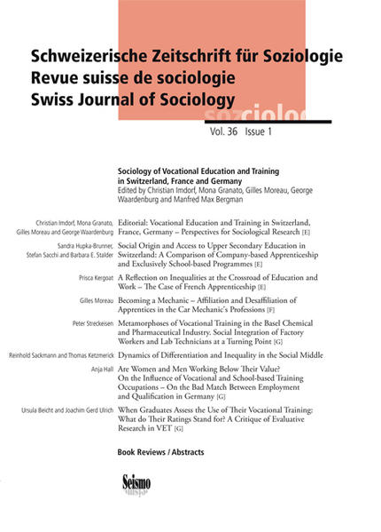 Sociology of Vocational Education and Training in Switzerland, France and Germany als Buch (kartoniert)