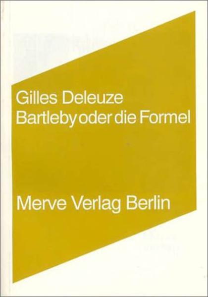 Bartleby oder die Formel als Buch (kartoniert)