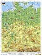 Deutschland, physisch 1 : 1 100 000. Wandkarte Kleinformat ohne Metallstäbe