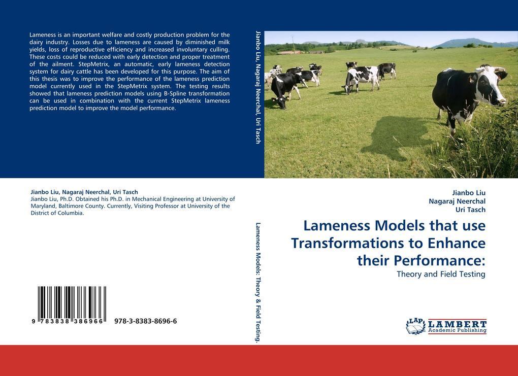 Lameness Models that use Transformations to Enhance their Performance: als Buch (kartoniert)