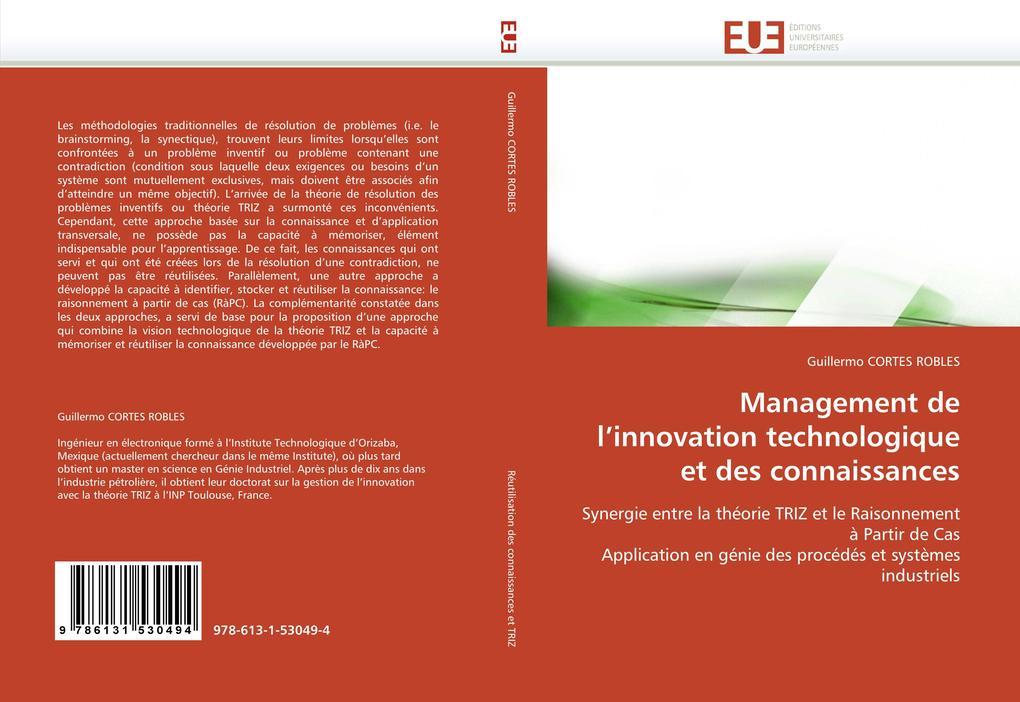 Management de l'innovation technologique et des connaissances als Buch (gebunden)