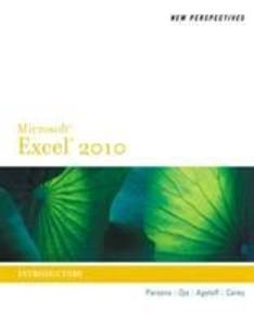 New Perspectives on Microsoft (R) Excel (R) 2010, Introductory als Taschenbuch