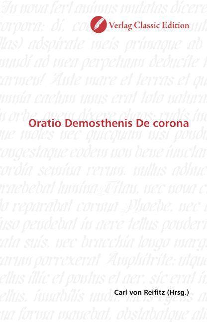 Oratio Demosthenis De corona als Buch (kartoniert)