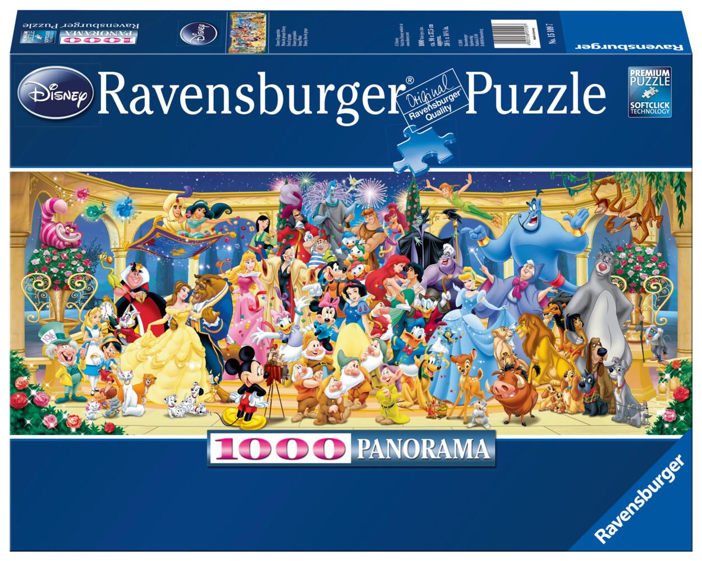 Ravensburger Spiel - Panorama - Disney Gruppenfoto, 1000 Teile als Spielware