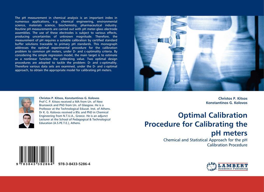 Optimal Calibration Procedure for Calibrating the pH meters als Buch (kartoniert)