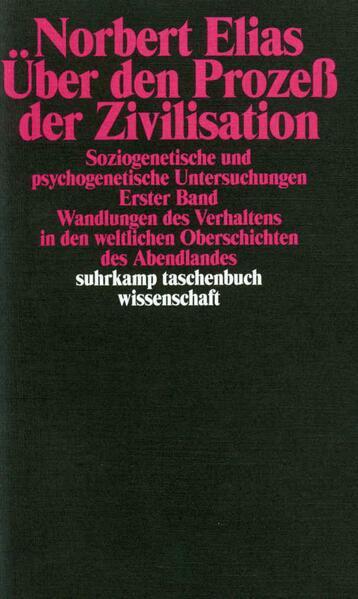 Über den Prozeß der Zivilisation. Bd.1 als Taschenbuch