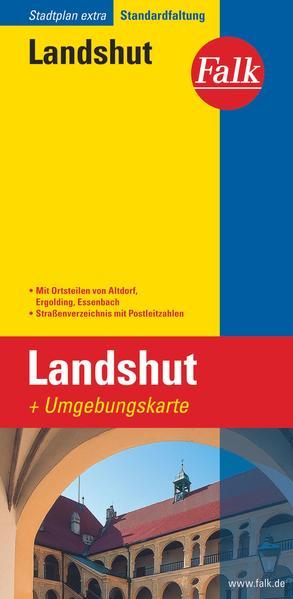 Falk Stadtplan Extra Standardfaltung Landshut 1 : 17 500 als Blätter und Karten