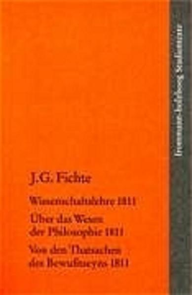 Wissenschaftslehre 1811 als Buch (kartoniert)
