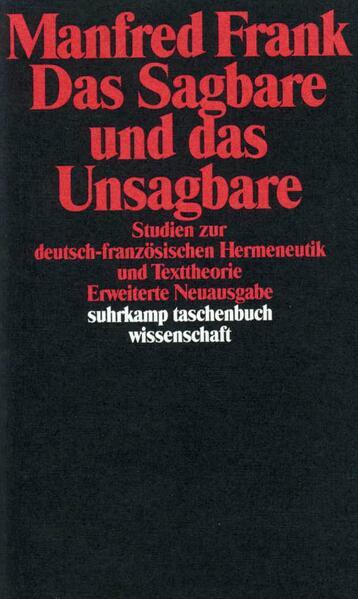 Das Sagbare und das Unsagbare als Taschenbuch