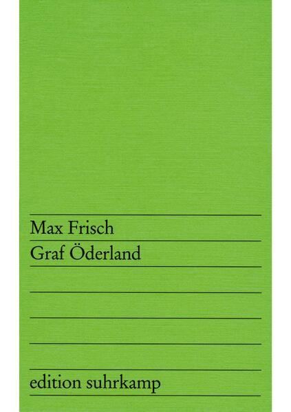 Graf Öderland als Taschenbuch