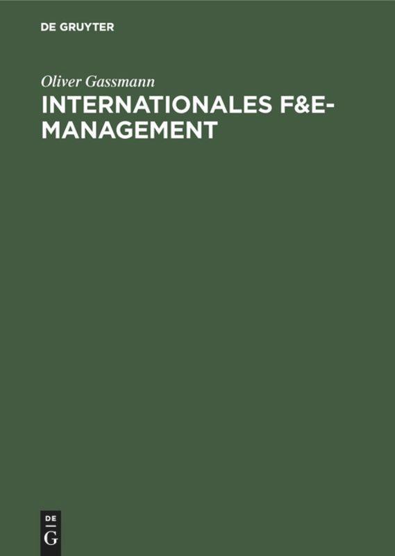 Internationales F&E-Management als Buch (gebunden)