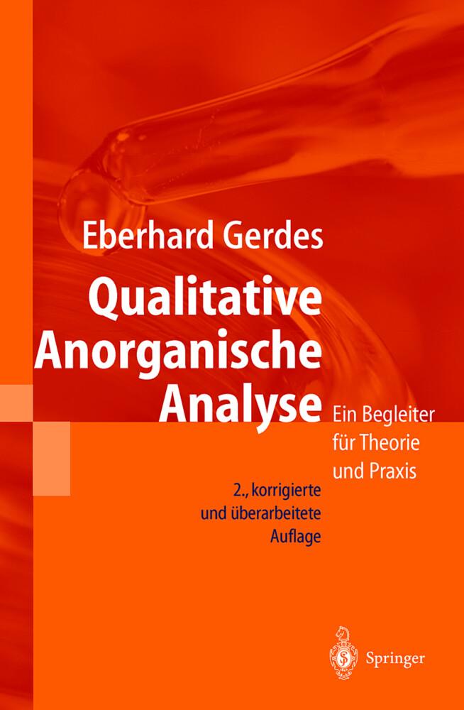 Qualitative Anorganische Analyse als Buch (kartoniert)