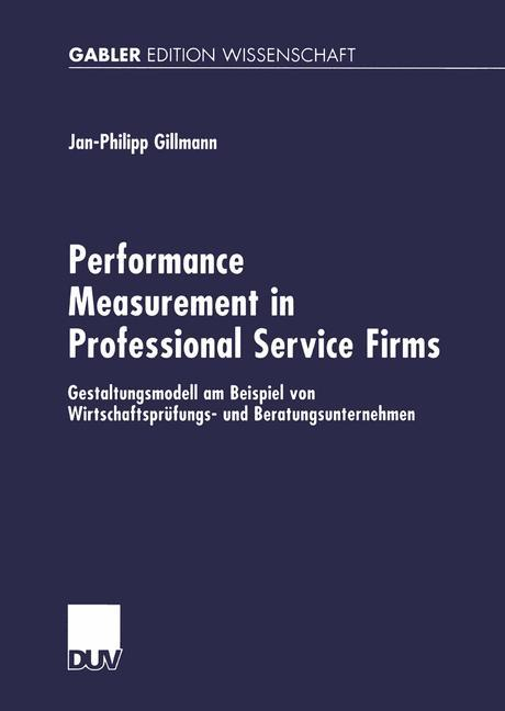 Performance Measurement in Professional Service Firms als Buch (kartoniert)