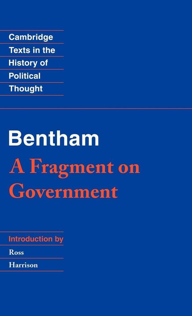 Bentham als Buch (gebunden)