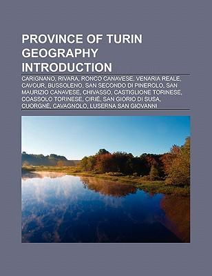 Province of Turin geography Introduction als Taschenbuch
