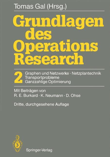 Grundlagen des Operations Research als Buch (kartoniert)