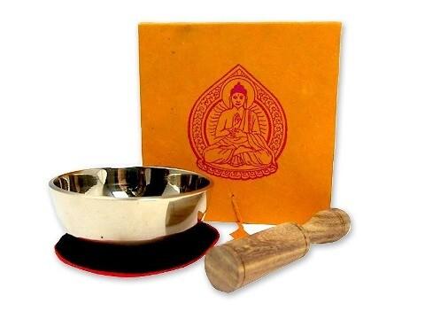 Kleine Klangschale mit hellem Klang in origineller Box mit Buddha-Aufdruck als Sonstiger Artikel