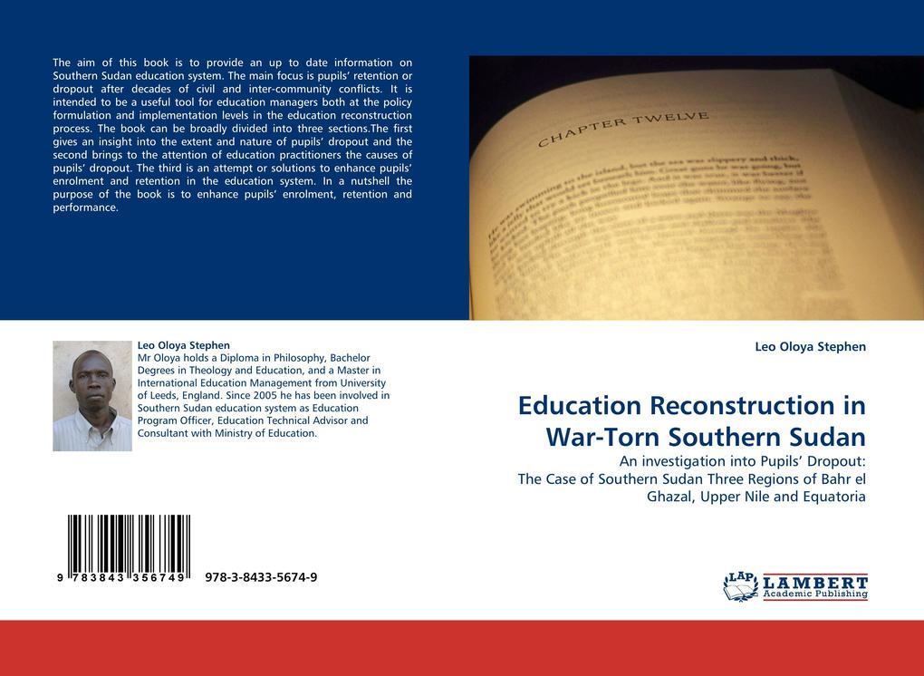 Education Reconstruction in War-Torn Southern Sudan als Buch (gebunden)