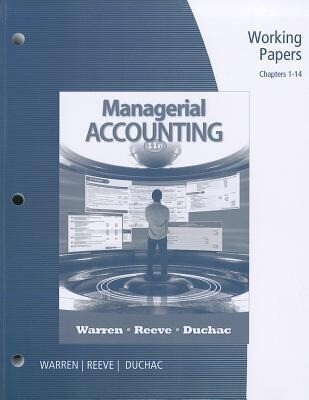 Working Papers, Chapters 1-14 for Managerial Accounting als Taschenbuch