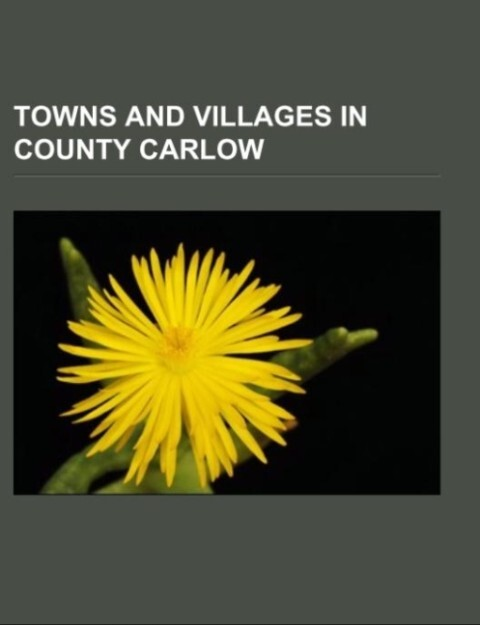 Towns and villages in County Carlow als Taschenbuch