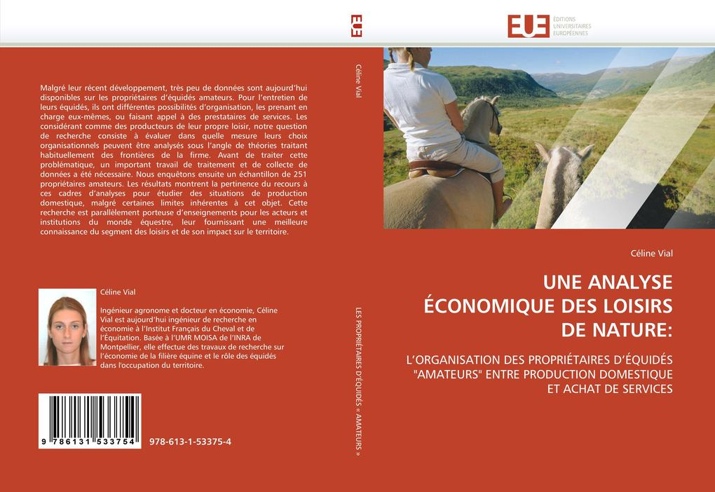 UNE ANALYSE ÉCONOMIQUE DES LOISIRS DE NATURE: als Buch (gebunden)