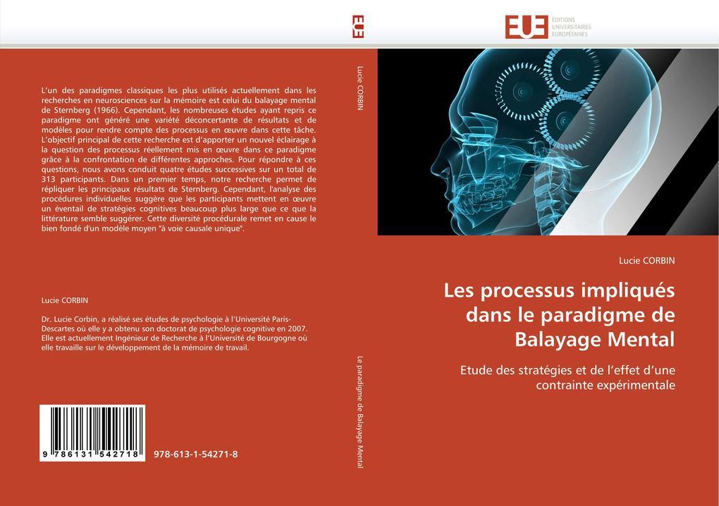 Les processus impliqués dans le paradigme de Balayage Mental als Buch (gebunden)