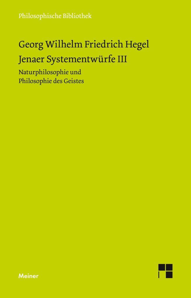 Jenaer Systementwürfe III als Buch (kartoniert)
