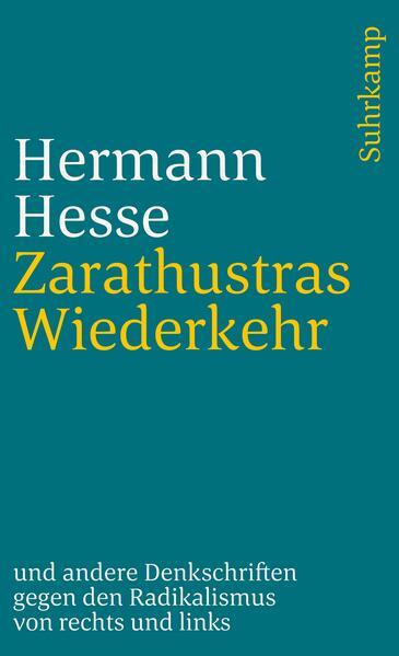 Zarathustras Wiederkehr als Taschenbuch