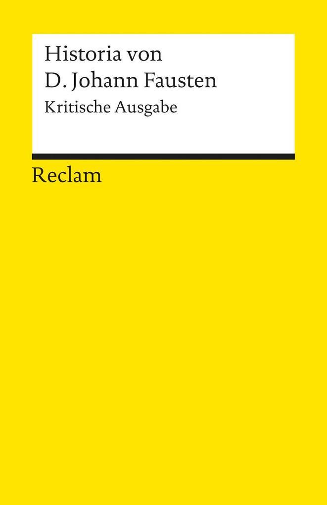 Historia von D. Johann Fausten als Taschenbuch
