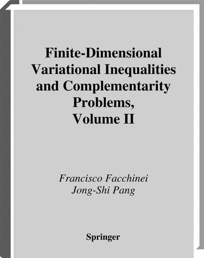 Finite-Dimensional Variational Inequalities and Complementarity Problems als Buch (kartoniert)