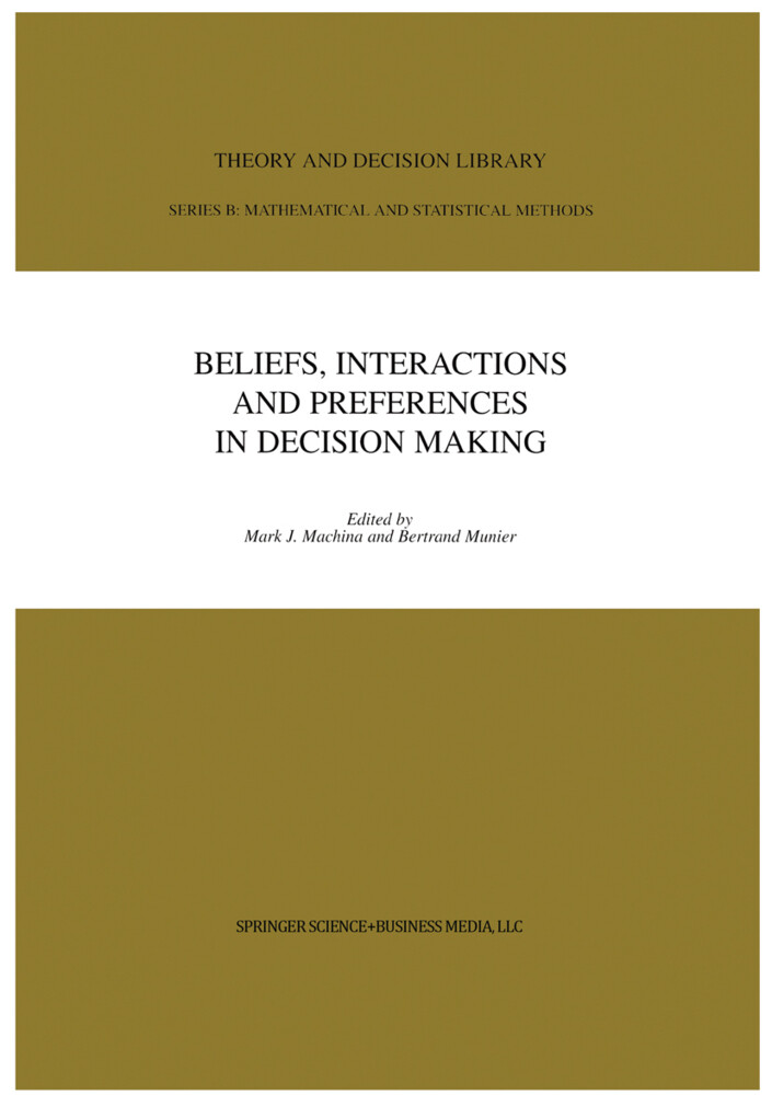 Beliefs, Interactions and Preferences als Buch (kartoniert)
