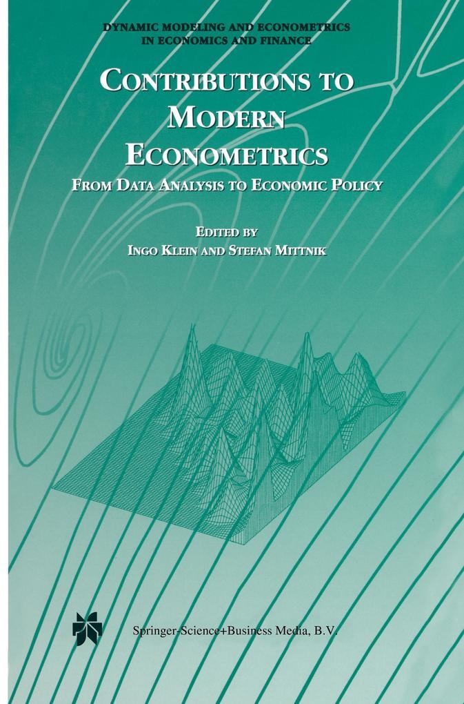 Contributions to Modern Econometrics als Buch (kartoniert)