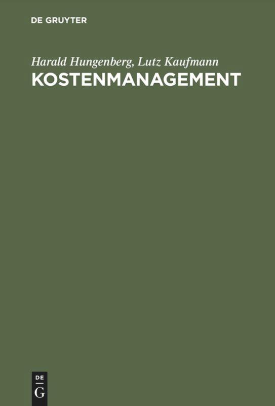 Kostenmanagement als Buch (gebunden)