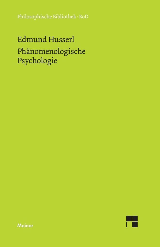 Phänomenologische Psychologie als Buch (gebunden)
