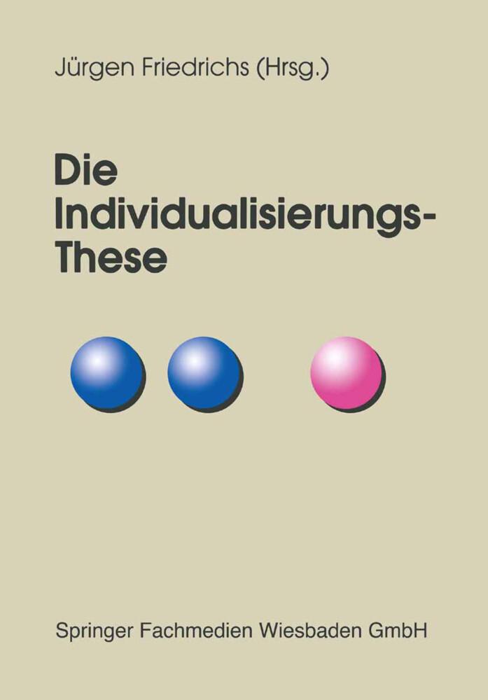 Die Individualisierungs-These als Buch (kartoniert)