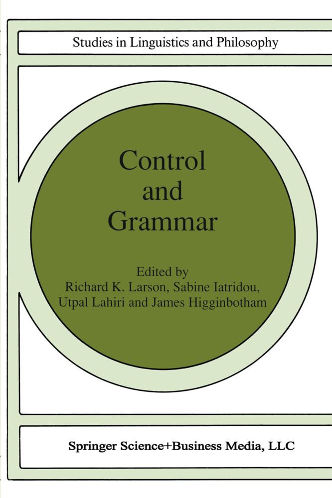 Control and Grammar als Buch (kartoniert)