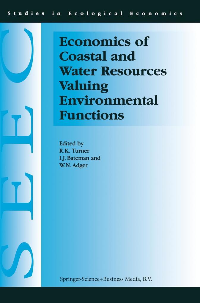 Economics of Coastal and Water Resources: Valuing Environmental Functions als Buch (kartoniert)