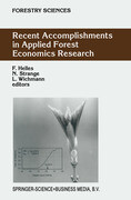 Recent Accomplishments in Applied Forest Economics Research