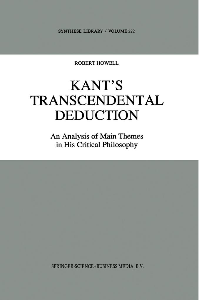 Kant's Transcendental Deduction als Buch (gebunden)