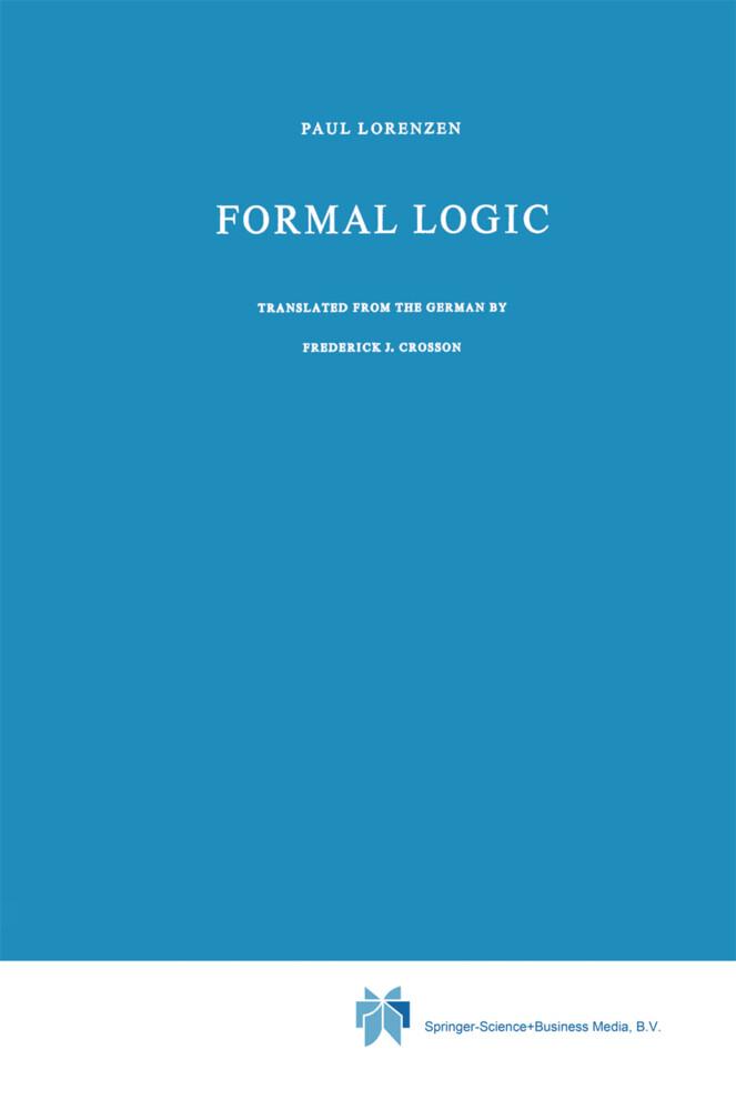 Formal Logic als Buch (kartoniert)