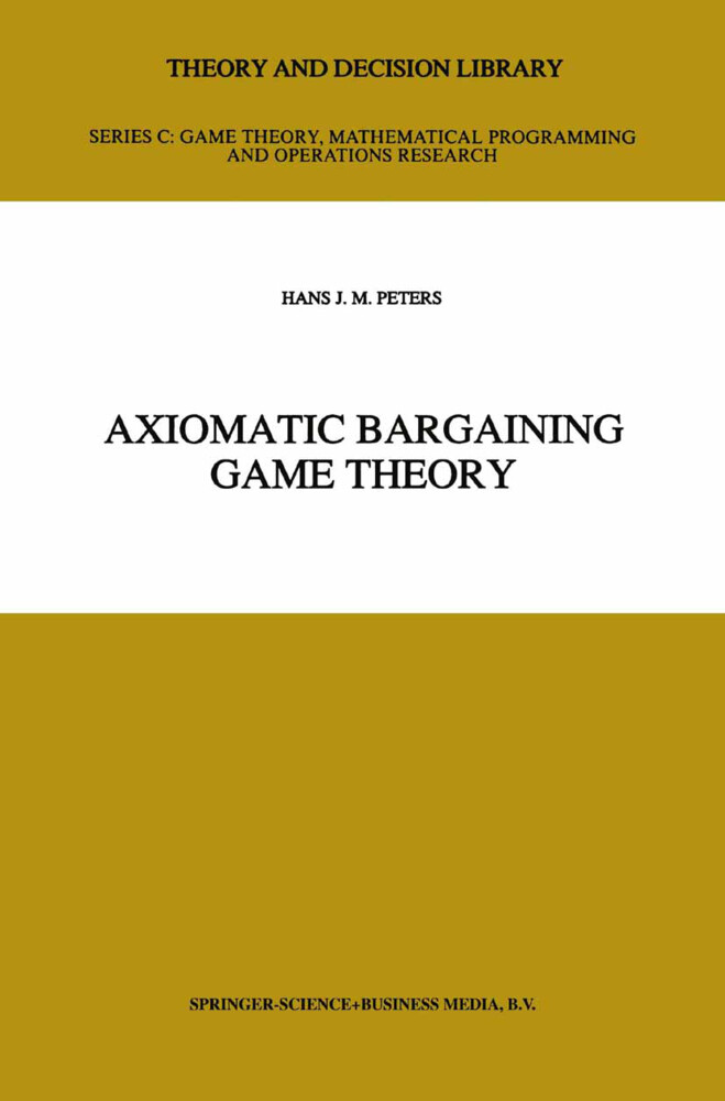 Axiomatic Bargaining Game Theory als Buch (kartoniert)