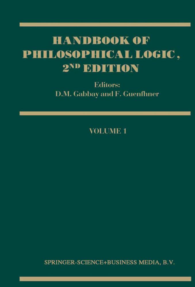 Handbook of Philosophical Logic als Buch (kartoniert)