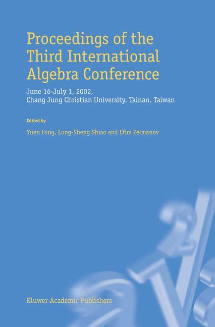 Proceedings of the Third International Algebra Conference als Buch (kartoniert)