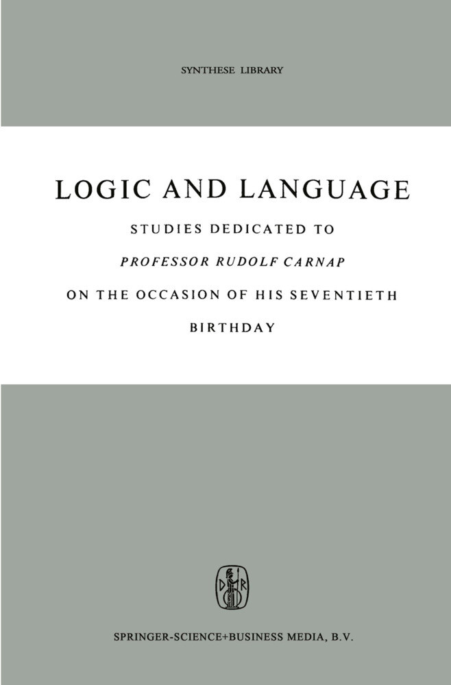 Logic and Language als Buch (kartoniert)
