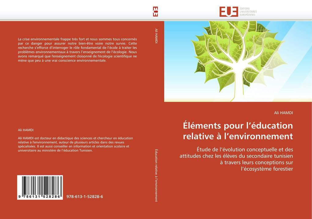 Éléments pour l'éducation relative à l'environnement als Buch (gebunden)