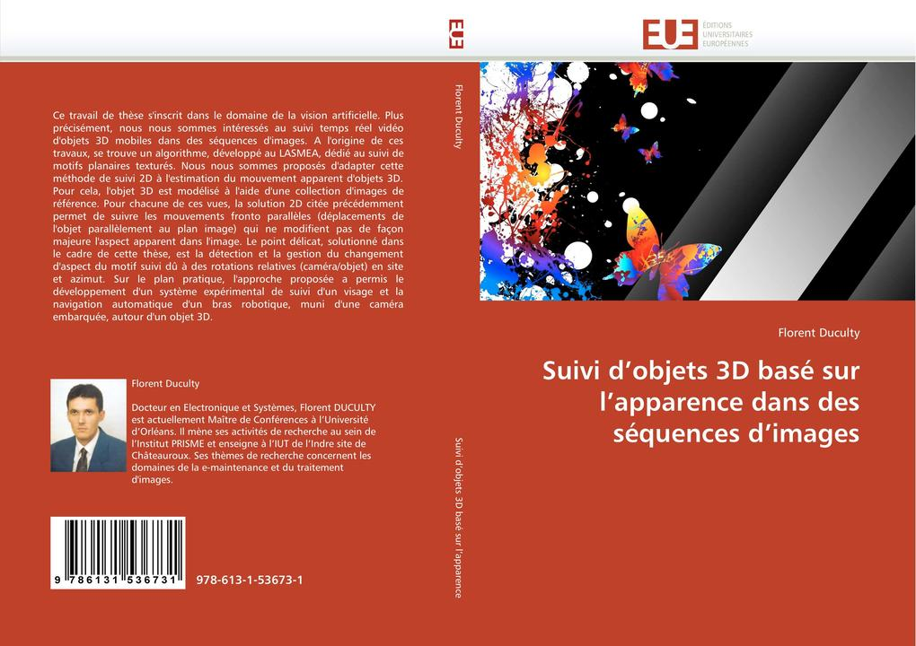 Suivi d'objets 3D basé sur l'apparence dans des séquences d'images als Buch (gebunden)