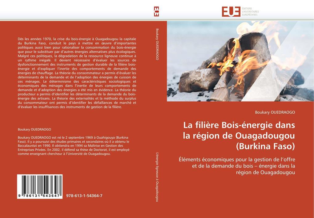 La filière Bois-énergie dans la région de Ouagadougou (Burkina Faso) als Buch (gebunden)