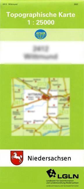 Jade 1 : 25 000. (TK 2615/N) als Blätter und Karten