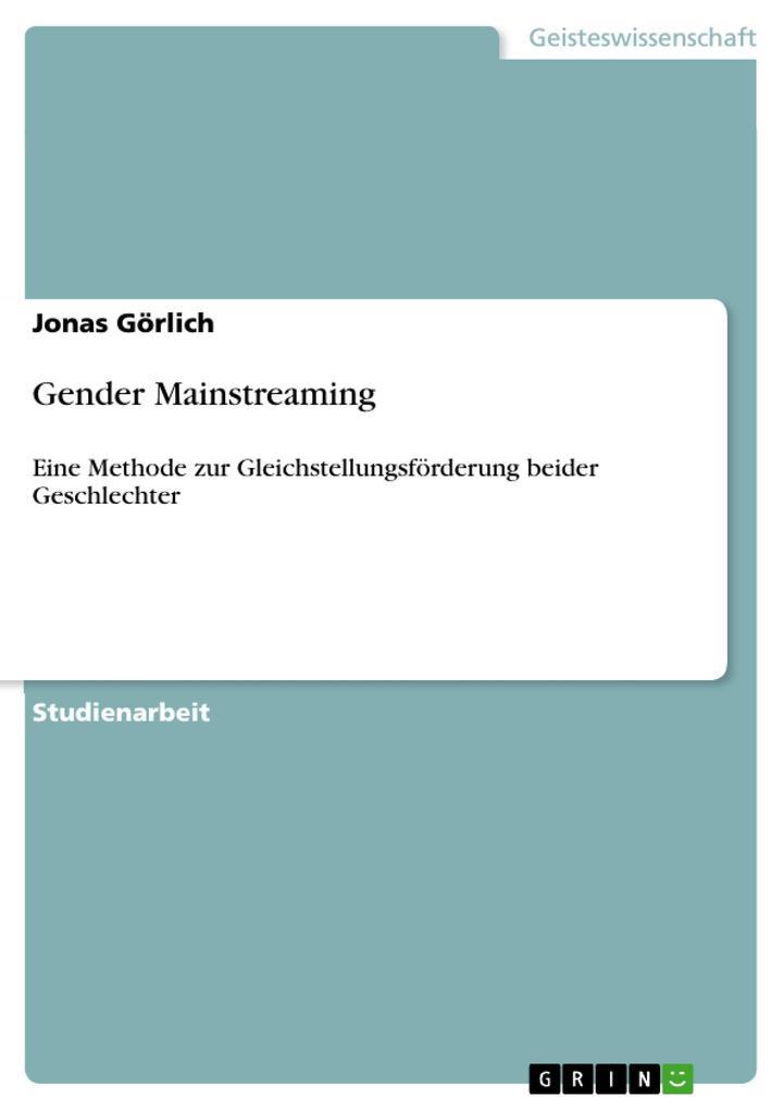 Gender Mainstreaming als Taschenbuch