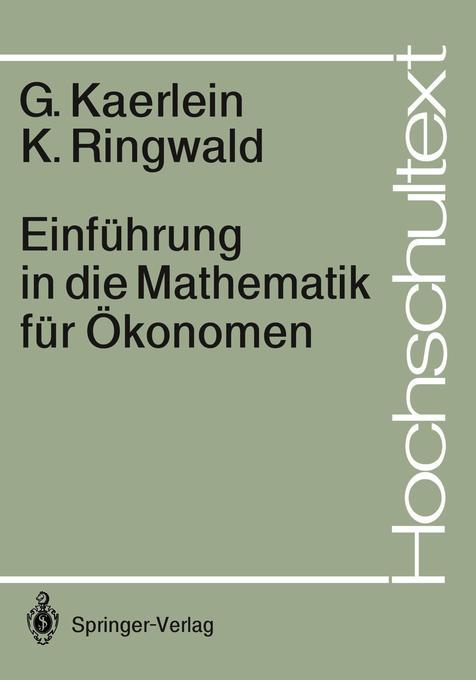 Einführung in die Mathematik für Ökonomen als Buch (kartoniert)